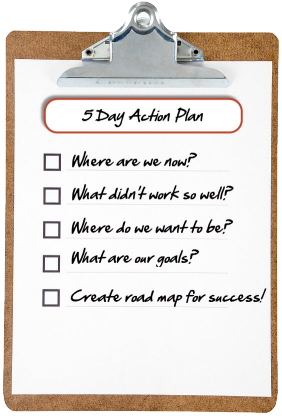 Create your 5 day action plan for success!